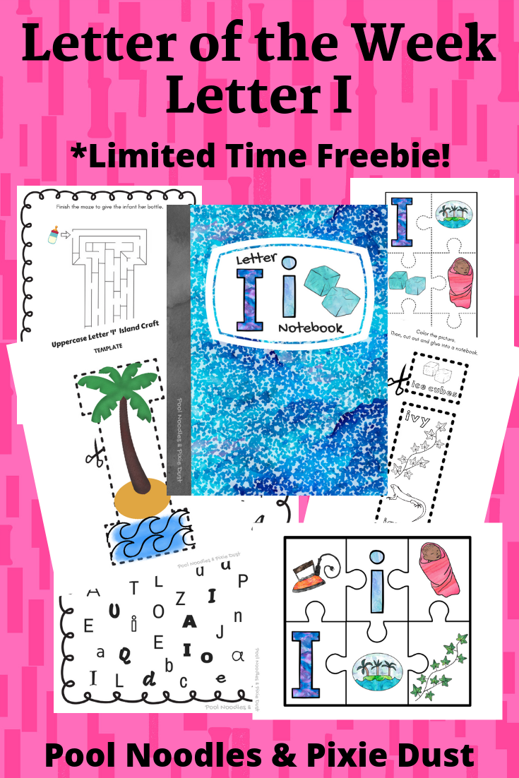 Letter of the Week - Letter I Book list, play ideas, animals that start with I, and a printable Letter I Notebook - FREE for one week!