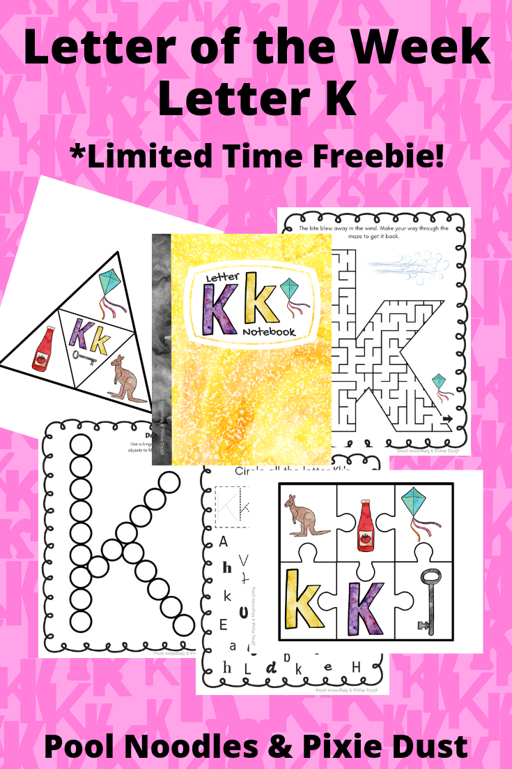 Letter of the Week - Letter K Ideas for a week of Letter K play, books, and animals to learn about. Plus a printable Letter K Notebook!