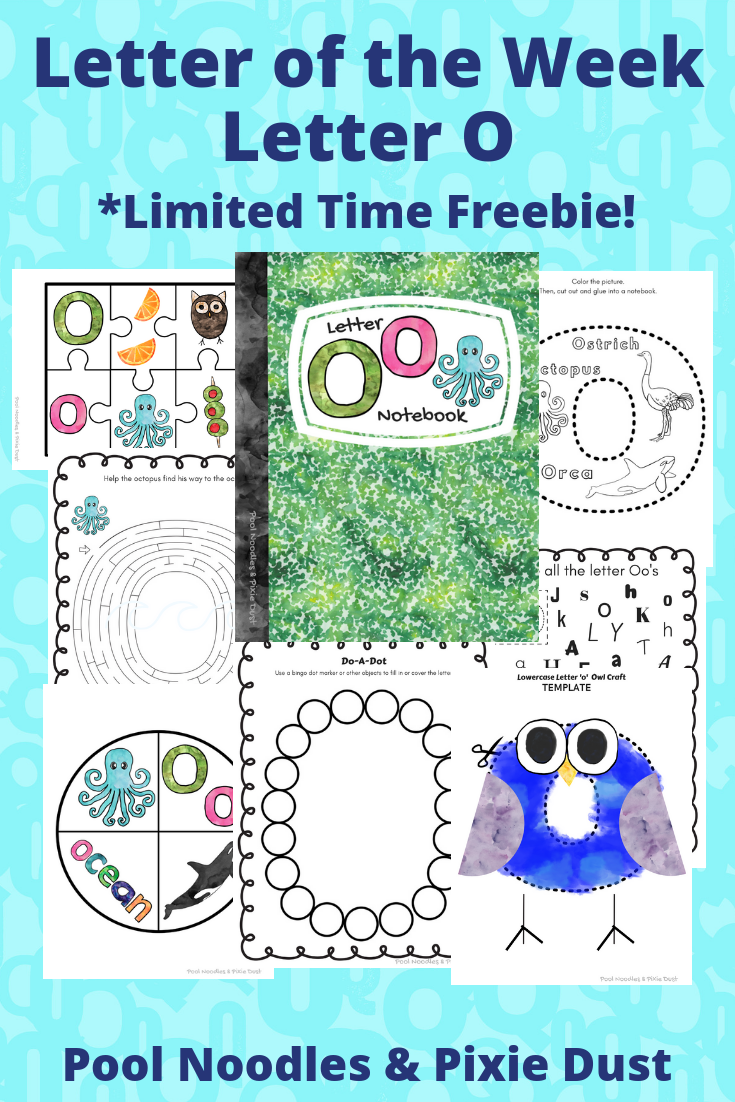 Letter of the Week Series - Letter O play ideas, book list, and animals that start with the letter O. Plus a printable letter O notebook with fun crafts and activity pages. - Pool Noodles & Pixie Dust