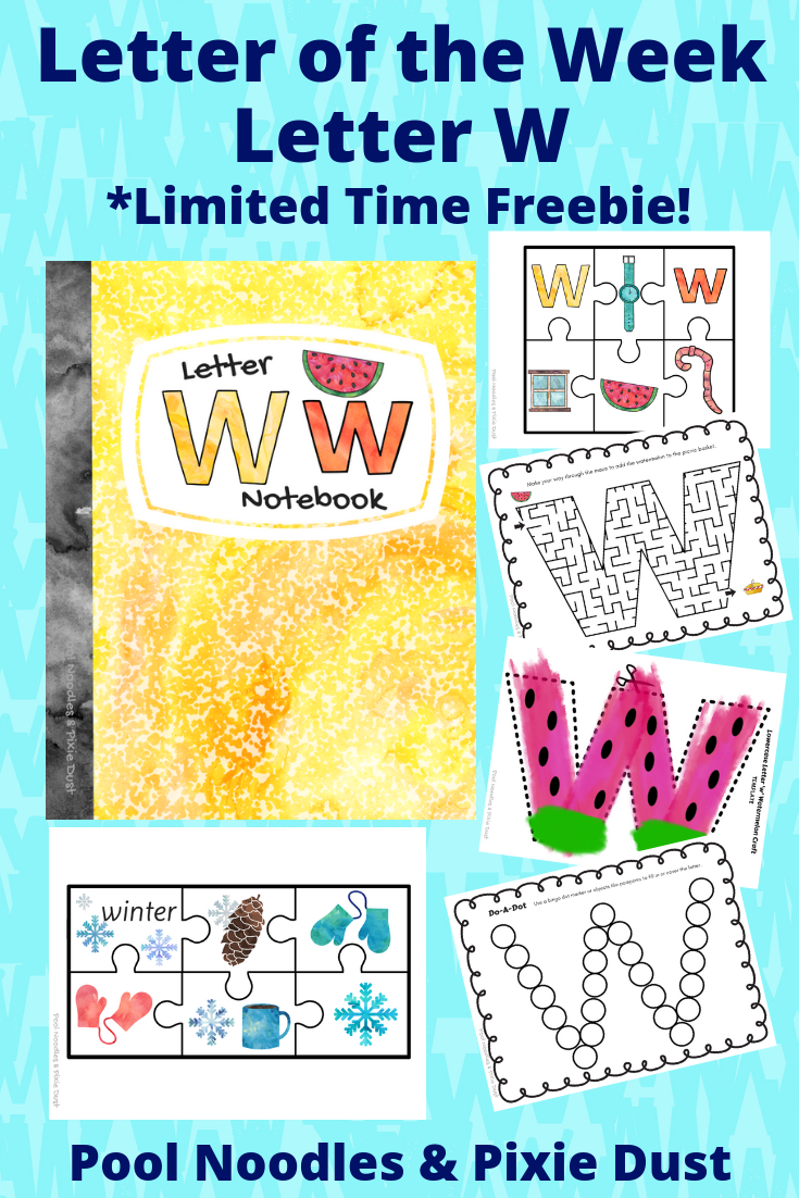 Letter of the Week - Letter W Book List, Animals that start with W, Play Ideas, and a printable Letter W Notebook full of activities and crafts.
