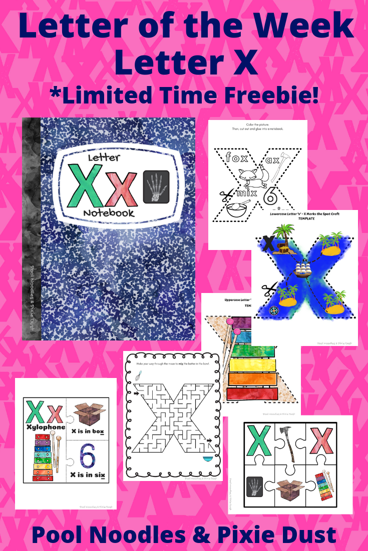 Letter of the Week - Letter X - Book list, play ideas, animals that start with X, and a printable letter X Notebook full of activities and crafts to learn all about the letter X!