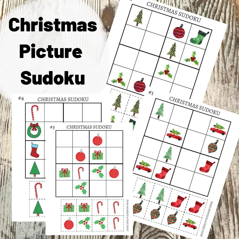 Christmas Sudoku.Christmas Picture Sudoku Pool Noodles Pixie Dust