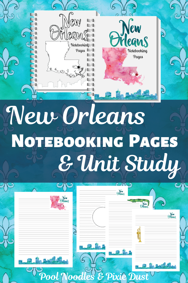 New Orleans Notebooking Pages - Pool Noodles & Pixie Dust