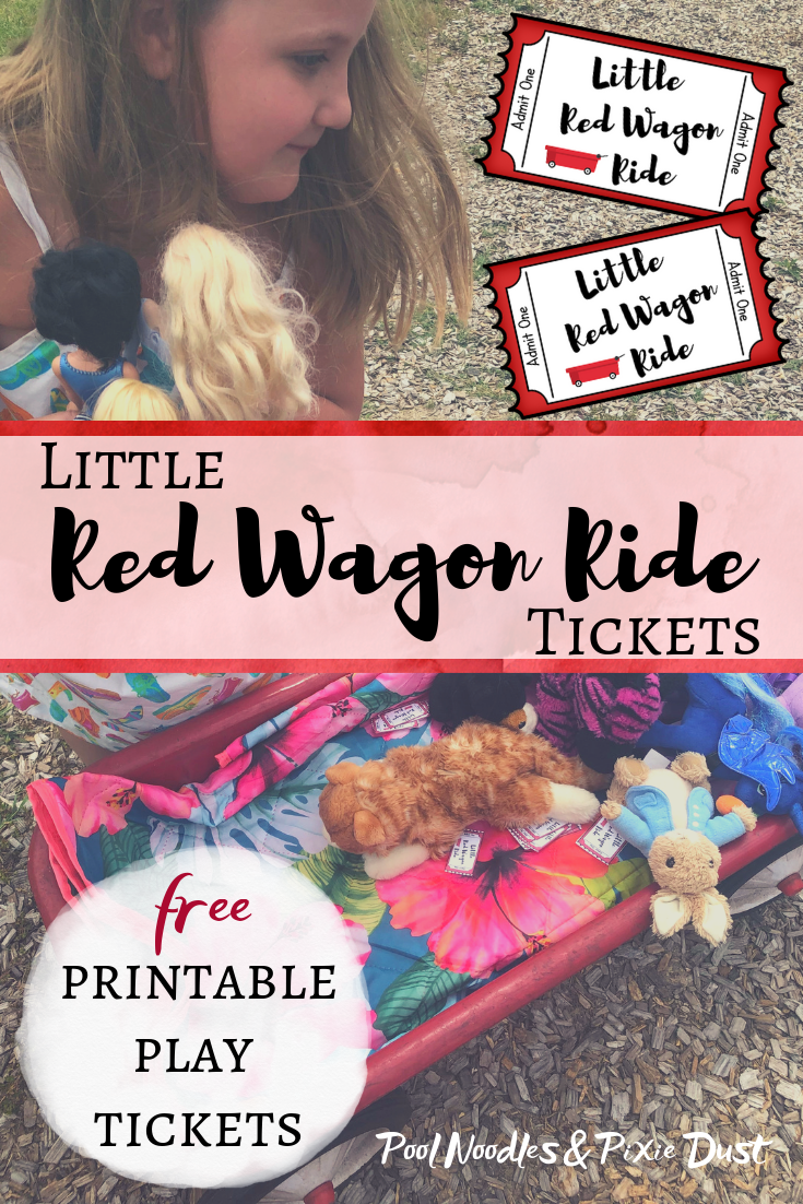 Free printable little red wagon ride tickets are perfect for summer and dramatic play!